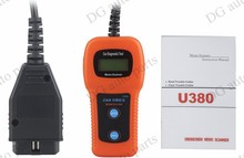 20sets/lot  U380 Auto Scanner OBD2 Trouble Code Reader Clear Automotive Diagnostic Equipment Detector Diagnostic Tools DHL free
