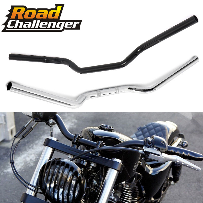 "1/"" 25mm Motorcycle Handlebar Low Rise Drag Bars For Harley Sportster Universal"