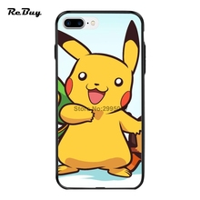 Pokemon Case For Iphone 7/7plus With String Hole Printed Picture Glaze Plating Button Cover For Iphone 6/6s/6plus/6s Plus