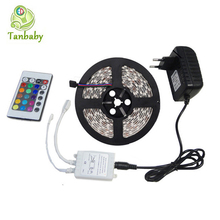 Tanbaby led strip 3528 5M Waterproof DC12V  24Key led controller ( Only for RGB Strip) + 24W power adapter home decoration light