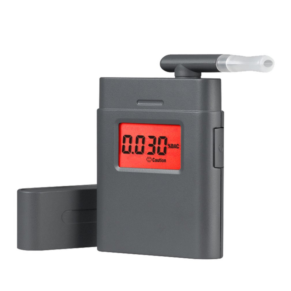 Digital Portable Alcohol Tester Small Square Shape Audible Alert Red Backlight Screen Mouth Piece Quick Response And Resume(China)