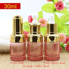 30ml empty Pink essential oil glass bottle, bottle cosmetic packaging 30cc dropper bottle 30g luxury glass dropper container