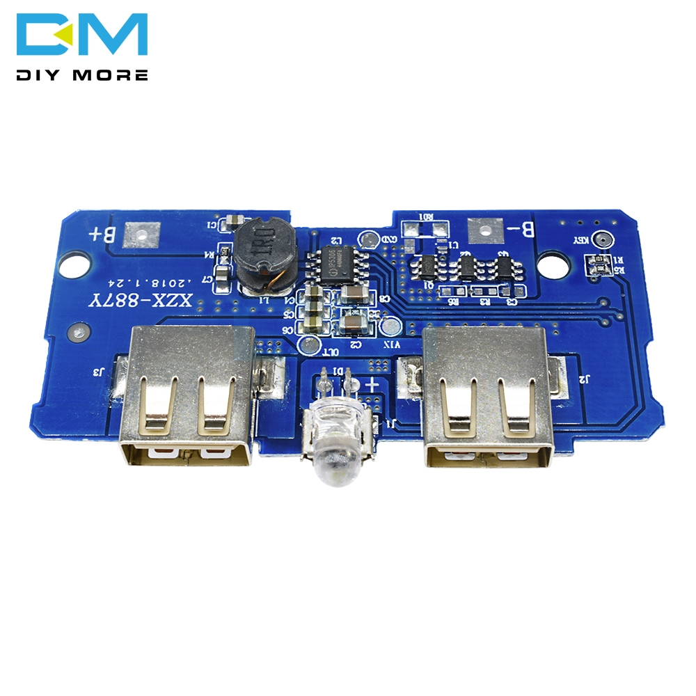 5V 2A Power Bank Charger Board Charging Circuit Step Up Module Dual USB OutpNWHH