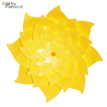 PF 50cm Big Paper Flower Multicolor 3D DIY Crafts Decoration Props for Wedding Stage Birthday Party Fan Decor Supplies PD0271