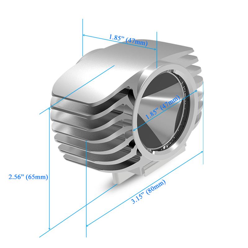 size of led car spotlight headlight