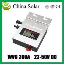 WVC260A Grid Tie solar micro inverter DC22V~50V 260W with Power Line Carrier-current Communication(China)