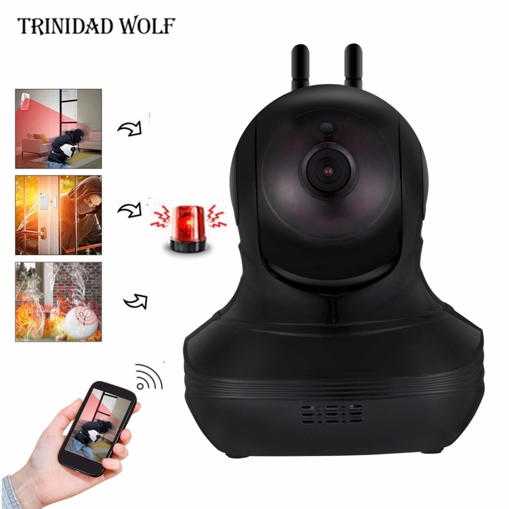 TRINIDAD WOLF HD 1080P Wifi Smart Cloud Camera Wireless Surveillance Cloud Storage Sound Motion Detection Security IP Camera<br>