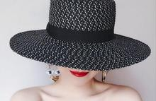 2017 new fashion women paper straw sun hat customized for summer beach hat