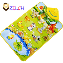 Multi-Functional Animal Music Carpet Baby Toys 1month-24month Kids Game Mats 60cm*40cm Sounds Heathy Fabric Mat