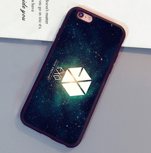 Exo Kpop Band popular star Mobile Phone Cases Bags OEM For iPhone 6 6S Plus 7 7 Plus 5 5S 5C SE 4S Soft Rubber Back Cover