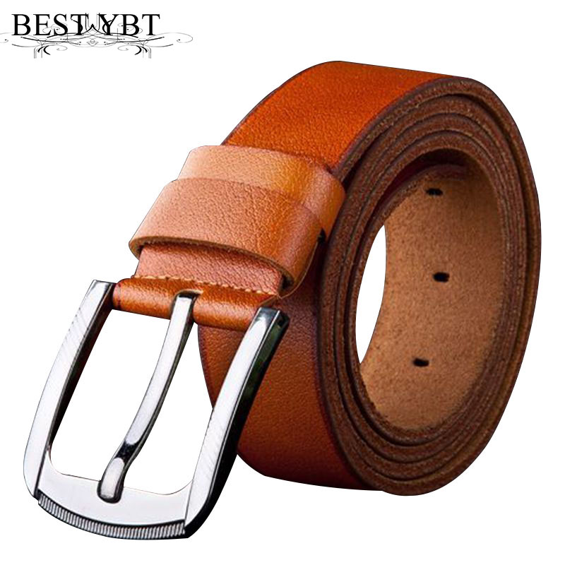 Best YBT Men leather Belt Casual simplicity Alloy Pin buckle Belt Business affairs casual Belt Split leather Alloy buckle Belt