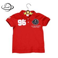 YAUAMDB kids polo shirt 2017 summer autumn 2-7Y cotton boys girls short sleeve tee children pullovers 96 print clothing y32(China)