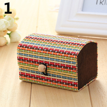 Creative Bamboo Wooden High Capacity Case Cute Jewelry Box Storage Organizer