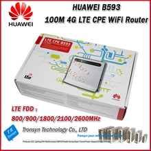 100Mbps Huawei B593 4G LTE CPE Industrial WiFi Router