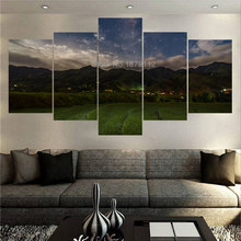 High Quality Quiet Night Of The Villa Modular Paintings On Canvas 5 Piece Wall Art Home Ornamentation Tableau Decoration Murale(China)