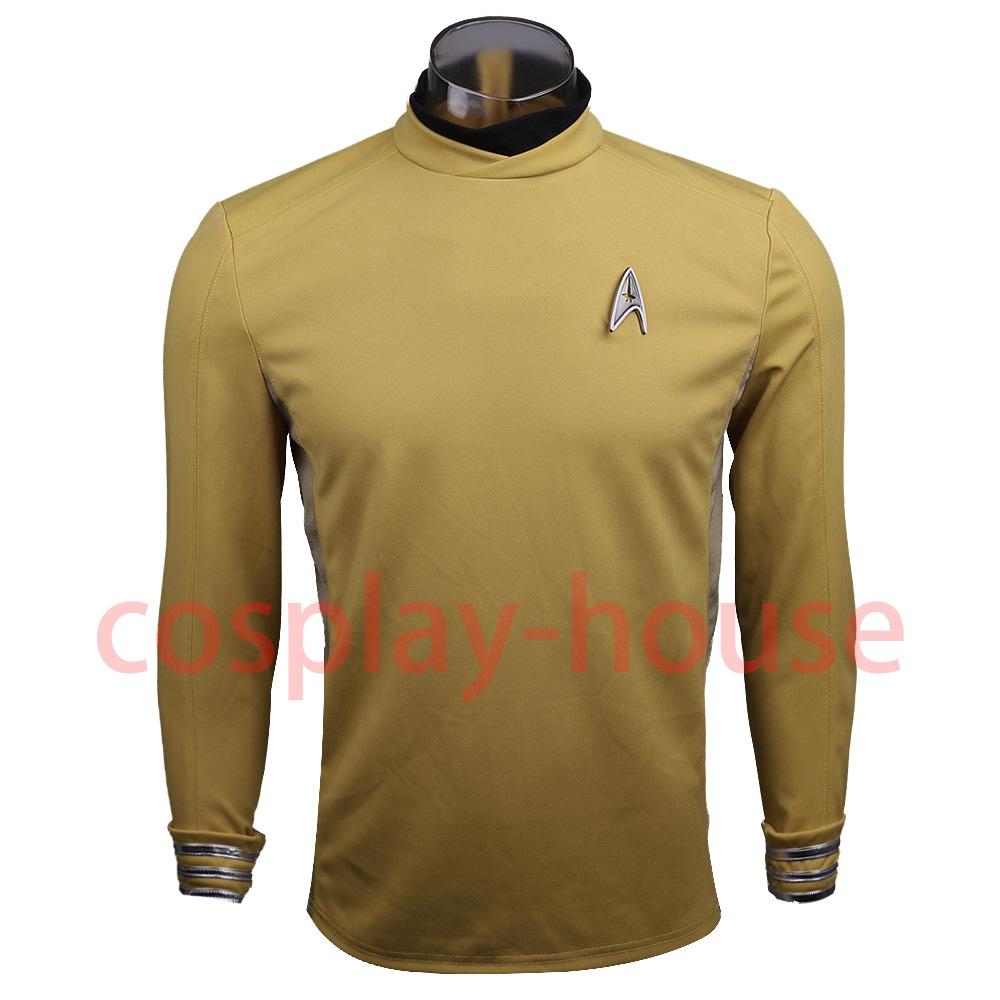 Star Trek Beyond Costume Cosplay Star Trek Yellow Captain Kirk Uniform Spock Uniform Scotty Halloween party Prop (1)