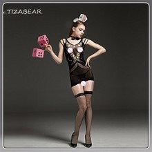 Buy Sexy Hot Women Lingerie Body Sexy Costumes Lenceria Mesh Hollow Mini Dress Babydoll Erotic Underwear Sheer  WY114