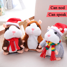 Talking Hamster 15cm Plush Pet Toys Sound Record Plush Hamster Can Nod And Talk Stuffed(China)