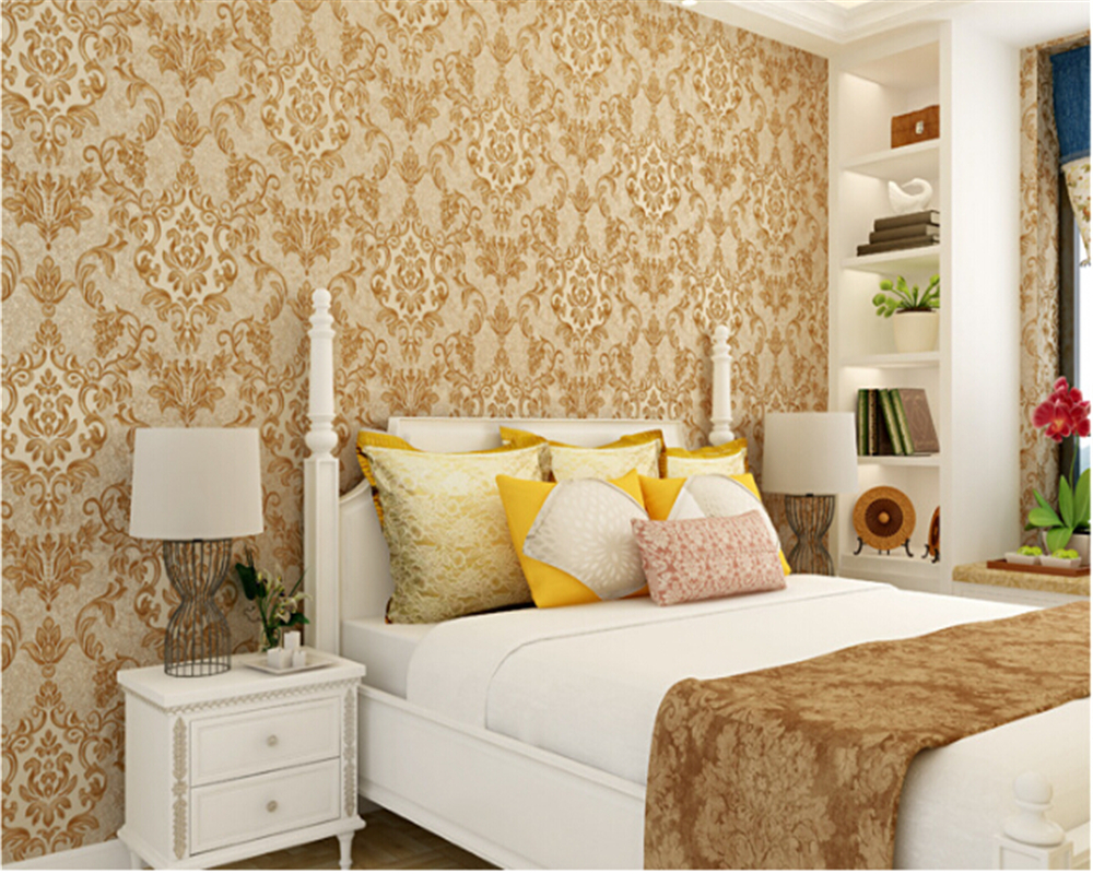 beibehang papel de parede European style PVC luxury sprinkle gold wallpaper bedroom living room TV backdrop papier peint behang<br>