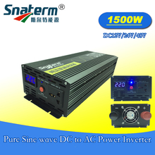 High frequency 1500W pure sine wave power inverter with LCD display for Solar Energy Systems Surge power 3000W for solar energy