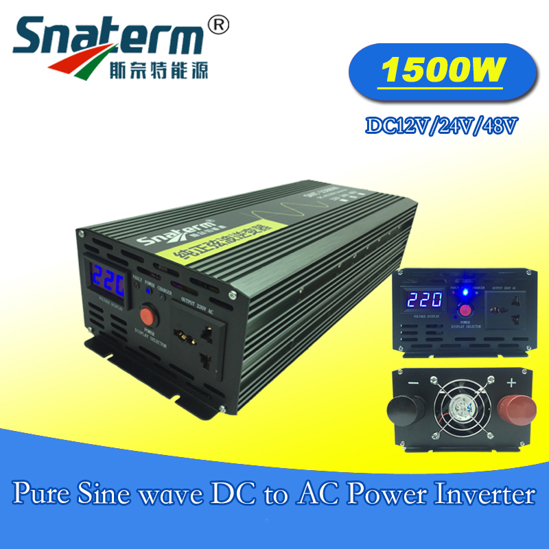 High frequency 1500W pure sine wave power inverter with LCD display for Solar Energy Systems Surge power 3000W for solar energy(China)