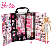 Original Barbie Doll Ultimate Fantasy Closet Baby Lady Toys Model Clothing Costume Suit Barbie Princess Toys Gift For Girl X4833(China)