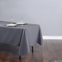 Fedex IE 60x102 in./230x260cm Rectangular Polyester Tablecloth Charcoal for Wedding Event Banquet Party 20/Pack(China)