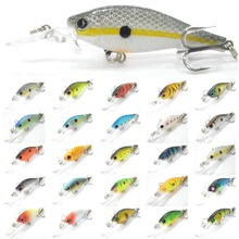 wLure Fishing Lure Hard Bait Medium Diver Tight Wobble Slow Floating 7.2g 8.5cm Over 20 Colors Minnow Crankbait M515(China)