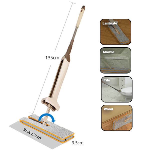 Self-Wringing Double Sided Flat Mop 8