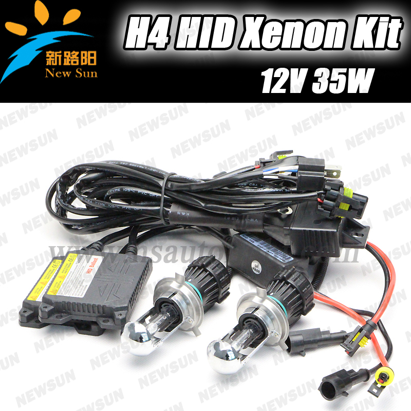 HID xenon kit supplier 12V 35W H4 Hi /low Slim kit bi xenon bulbs 3000k 4300k 6000k 8000k 10000k auto hid kit<br>
