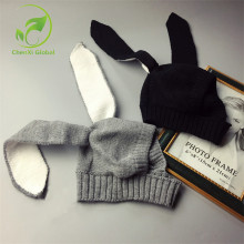 Winter Baby Rabbit Ears Knitted Hat Infant Toddler Cap for Children 0-3 Yrs Girl Boy Accessories Photography Props(China)