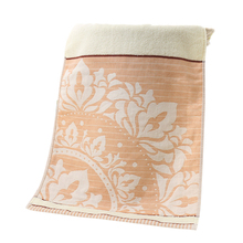 Good quality Pure Cotton Face Towels with Jacquard Weave 32 Strands Design Towels 3 Colors