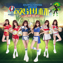 Fantasy Football Costumes 2017 Soccer Baby Girl Sexy Short Football Costume Cheerleaders Team Sets Italy France Spain(China)