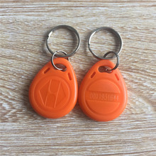 125khz LF TK4100 EM4100 ABS Waterproof Orange RFID Keyfob Tag -100pcs