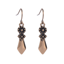 New 2016 Fashion Vintage Jewelry Punk Style Triangle Drop Earring For women girl Antique Gold Silver Color Alloy Brincos retro
