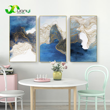 3 Piece Abstract Wall Painting Chinese Handmade Oil Painting Hand Painted For Office Home Decor Modular Wall Picture Unframed(China)