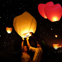 10 PCS Mix Chinese Lantern Sky Lanterns Wish Flying Lanterns Multicolor Paper Lantern Balloon Birthday Wedding Party Decoration
