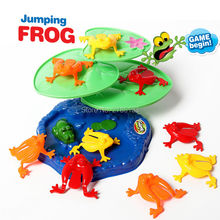 Family fun Jumping Frogs play set with 9 Piece Pack Frog flipping Game Party Favors  Educatinoal Toys for 2-4 Players