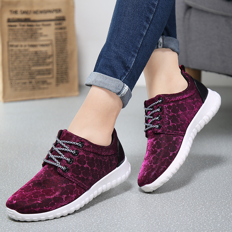 2016 New Fashion Spring and Summer Women Breathable Mesh Casual Shoes Womens Jogging Shoes<br><br>Aliexpress