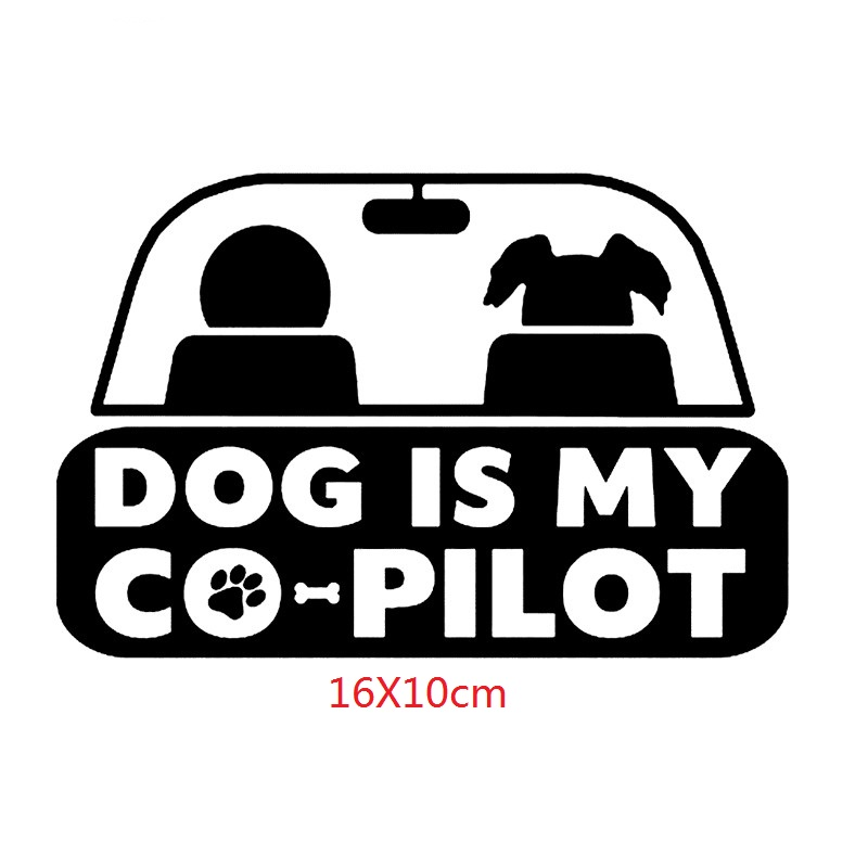 Dog Co Pilot Puppy Funny Humor Vinyl Decal Sticker for Car SUV or Animal Rescuer for sale online