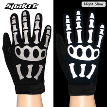SPAKCT Cycling Bike Bicycle Reflective Glives Ghost claws Skull Gloves Anti-slip Bike Bicycle Motor Sportswear Equipment Gloves(China)