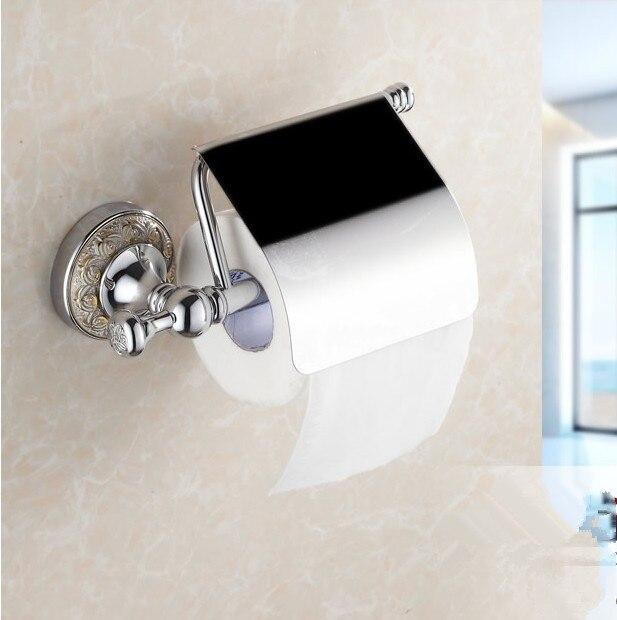 2016 Bathroom Accessories luxury Chrome Finish Creative  Flower Carved Roll Holder Toilet Paper Holder,Bronze Paper Towel Holder<br>