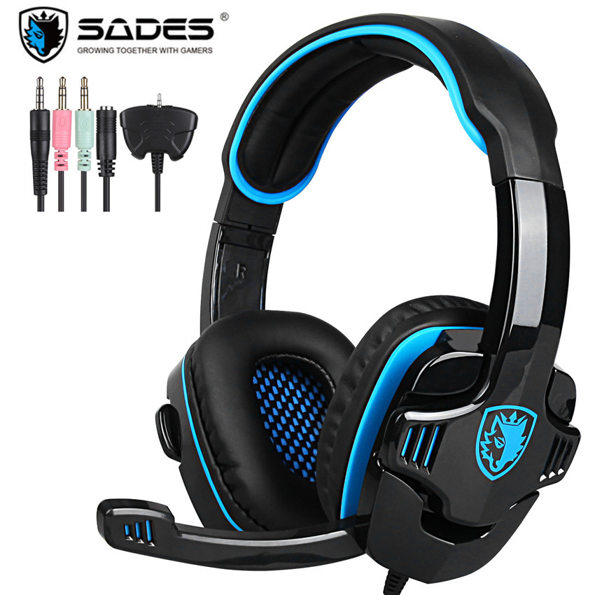 Sades SA780GT PS4 Gamer Headset Computer Gaming Headphones With Microphone Mic for PC Playstation 4 Xbox One/360 Laptop iPad<br>