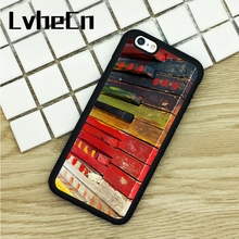 LvheCn TPU Phone Cases For iPhone 6 6S 7 8 Plus X 5 5S 5C SE 4 4S ipod touch 4 5 6 Cover Piano Keys Colorful Keyboard Pattern(China)