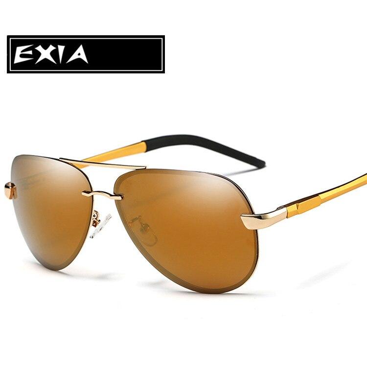 Brown Polarized Sun Glasses Men Pilot Eyewear for Male Top Quality EXIA OPTICAL KD-0761 Series<br><br>Aliexpress