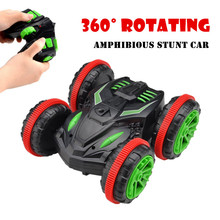 Amphibious Vehicle 360 Degree Rotate RC Stunt Car 333-SL01B 4WD Double Side Racing Car Four-wheel Drive High Speed Toy Model^
