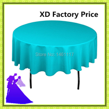 100% polyester 108inch wedding table cloth 10pcs for round table cheap price free shipping