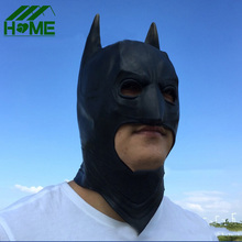 Halloween black face batman mask costume adult kids full facial blackhead cosplay latex scary mask Gift masks for New Year Party