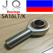 JQ Bearings 16mm SAL16T/K POSAL16 SAL16 Rod End Joint Bearing Metric Male Left Hand Thread M16x2mm Rod End Bearing