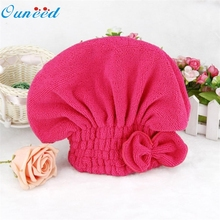 lovely 1PCS Home Textile Microfiber Solid Hair Turban Quickly Dry Hair Hat Wrapped Towel Bath 5 Colors Available